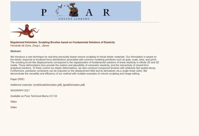 Screenshot of graphics.pixar.com