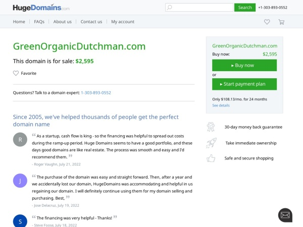 Screenshot of greenorganicdutchman.com