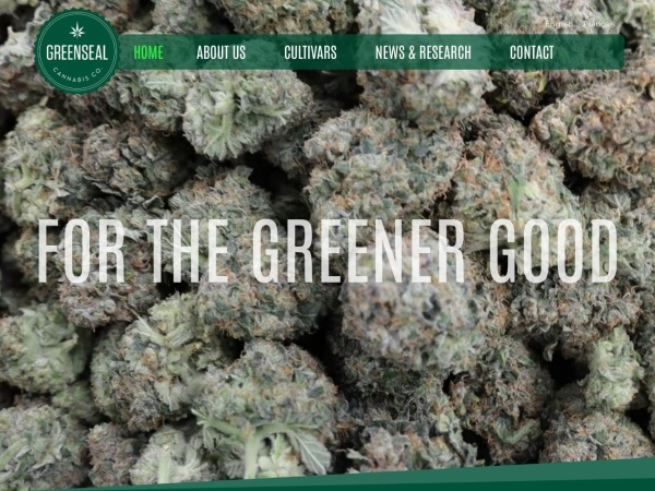 Screenshot of greensealcannabis.com