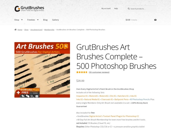 http://grutbrushes.com/shop/photoshop-brush-collection/photoshop-art-brushes-complete/