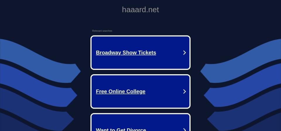 Screenshot of haaard.net
