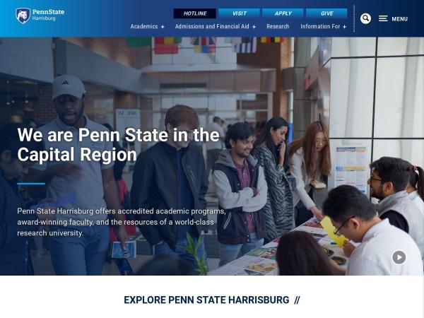 Screenshot of harrisburg.psu.edu