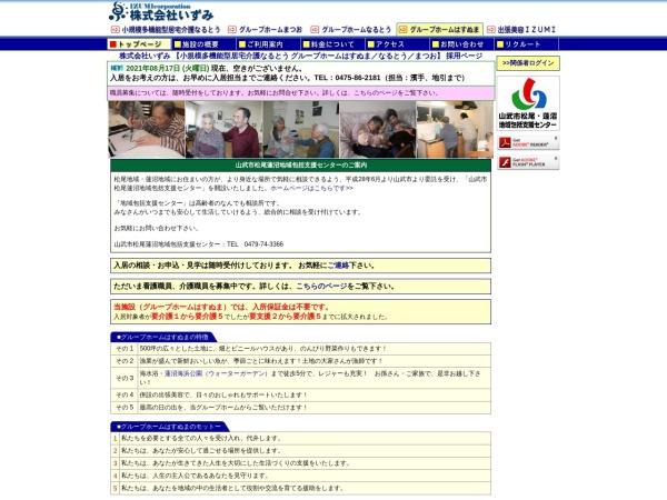 Screenshot of hasunuma.izzmi.com