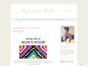 high plains thrifter using the Twenty Eleven WordPress Theme