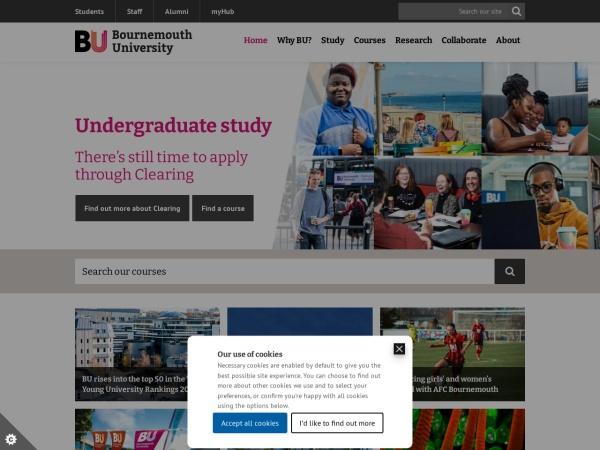 Screenshot of home.bournemouth.ac.uk