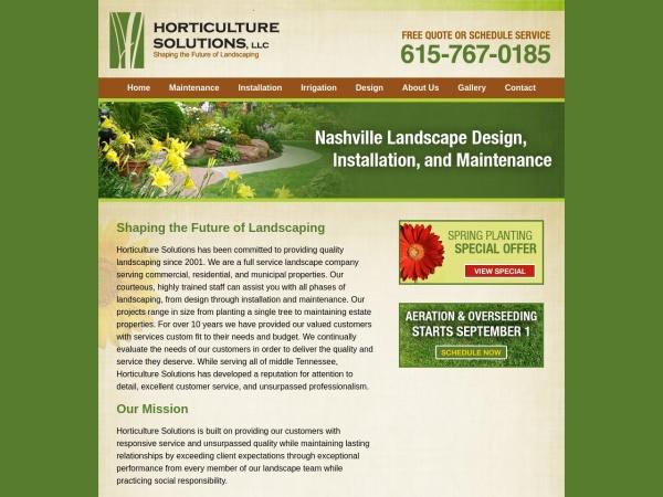 Screenshot of horticulturesolution.com