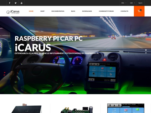 Screenshot of i-carus.com