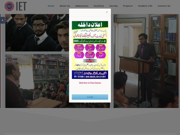 Screenshot of iet.edu.pk