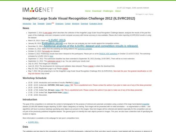 Screenshot of image-net.org