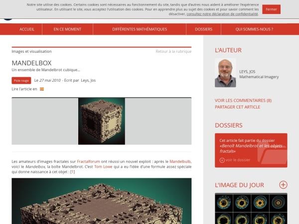 Captura de pantalla de images.math.cnrs.fr