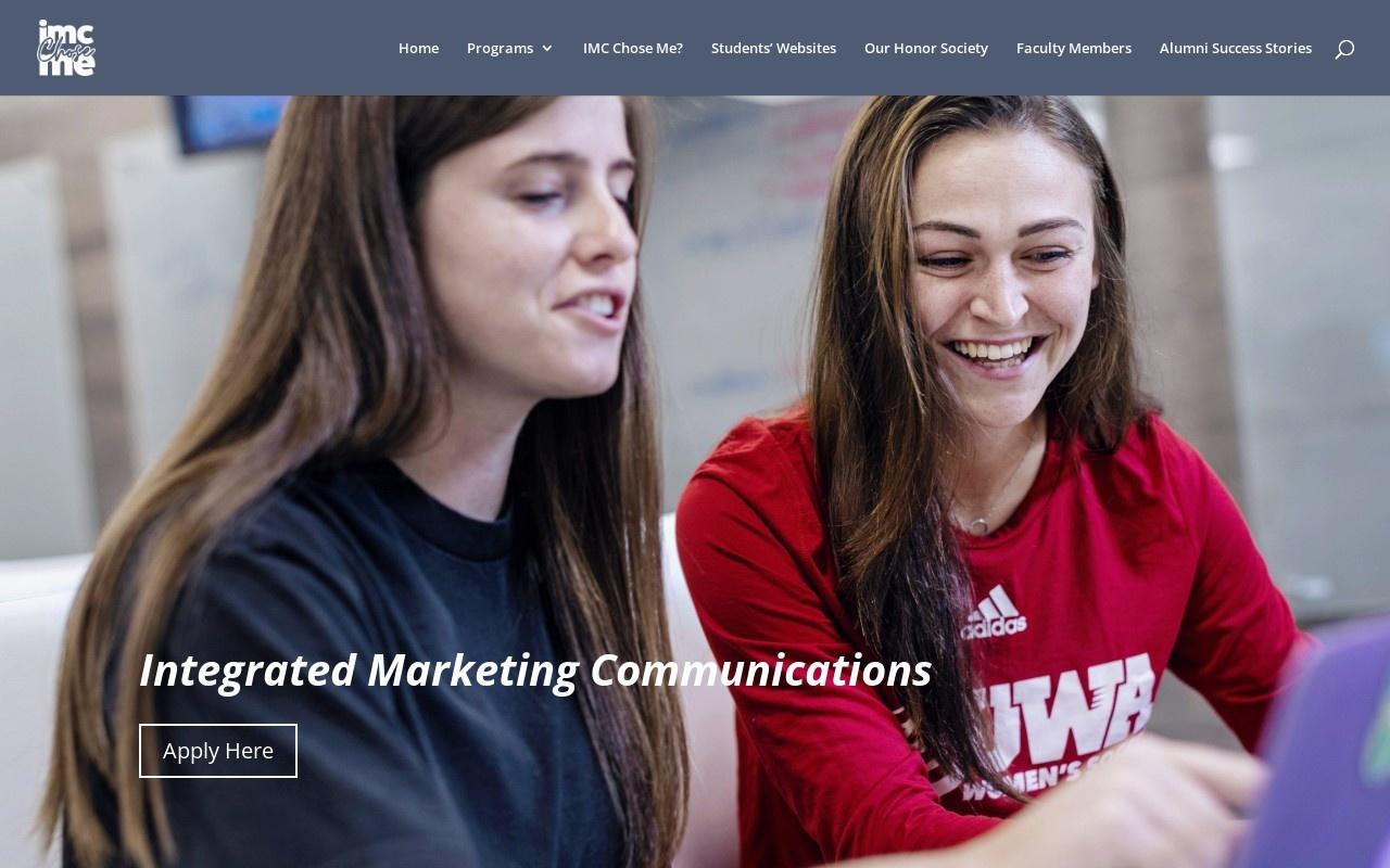 Screenshot of imcchoseme.com