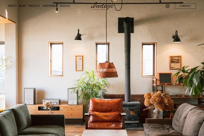 Screenshot of indigo-furniture.jp