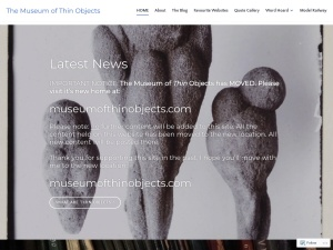 The Museum of Thin Objects using the Shoreditch WordPress Theme