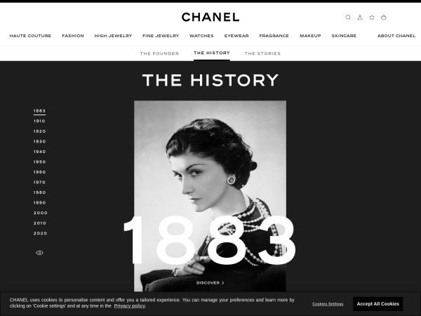 Screenshot of inside.chanel.com