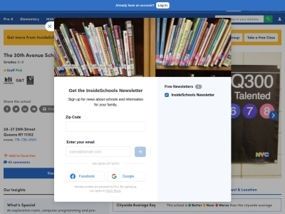 Screenshot of insideschools.org