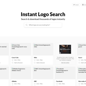 Screenshot of instantlogosearch.com