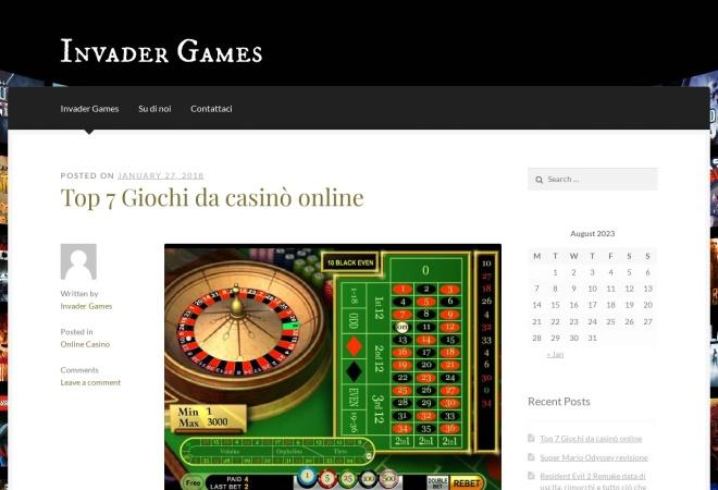 Screenshot of invadergames.eu