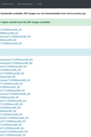 Screenshot of isoredirect.centos.org