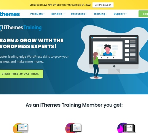 Screenshot of ithemes.com