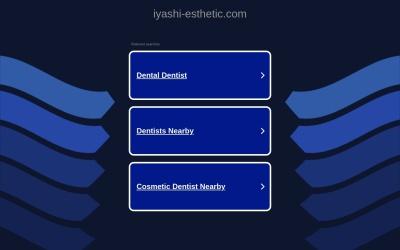Screenshot of iyashi-esthetic.com