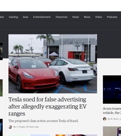 Screenshot of japanese.engadget.com