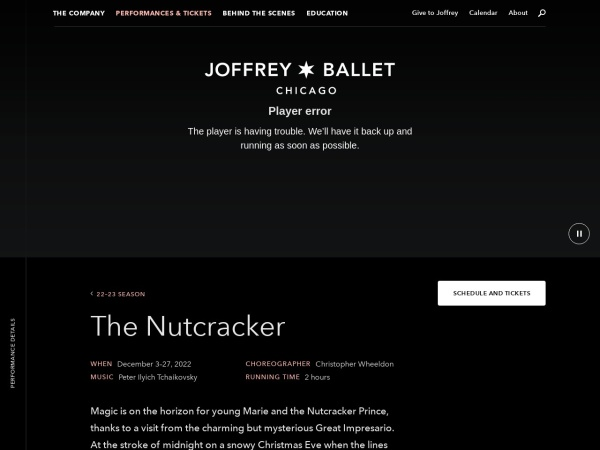 Screenshot of joffrey.org