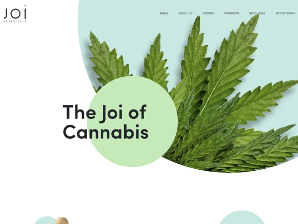 Screenshot of joibotanicals.com