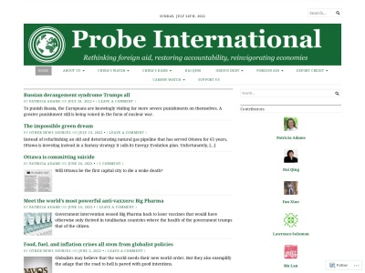 Probe International Screenshot
