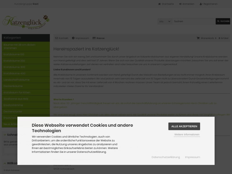 Screenshot of katzenglueck.de