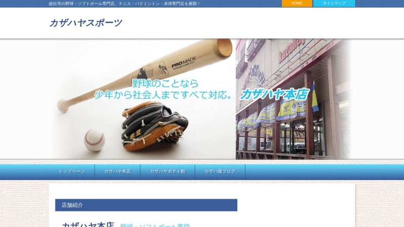 Screenshot of kazahaya-sports.com