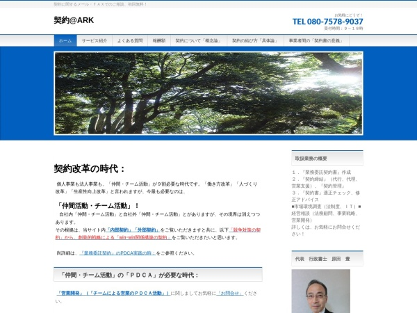 Screenshot of keiyakusg.com
