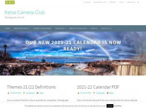 Screenshot of Kelso Camera Club website
