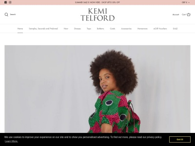 Screenshot of kemitelford.com
