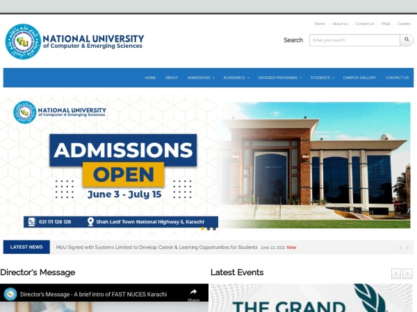 Screenshot of khi.nu.edu.pk