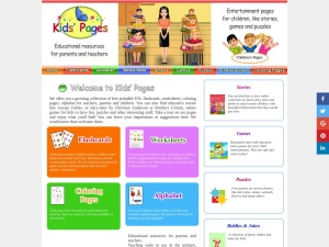 Screenshot of kids-pages.com
