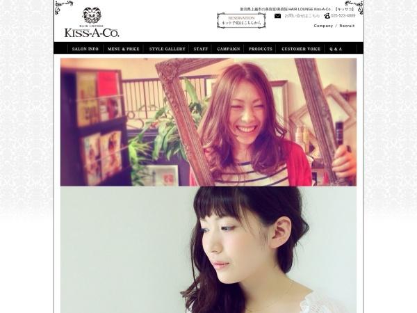 Screenshot of kiss-a-co.jp