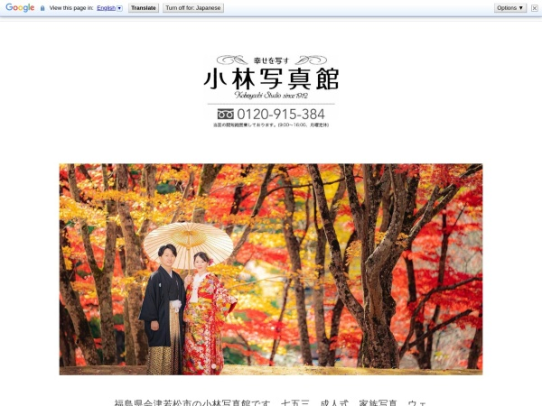 Screenshot of kobayashi-aizu.com