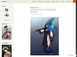 Anime Art using the Twenty Fourteen WordPress Theme