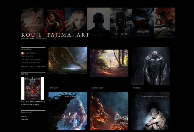 Screenshot of koujiart.blogspot.jp