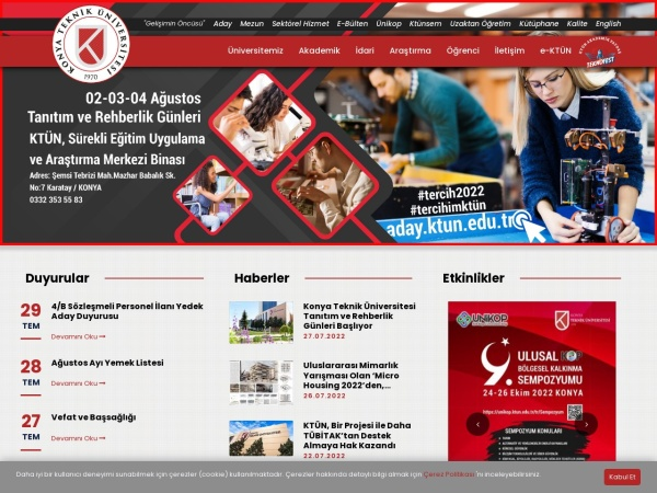 Screenshot of ktun.edu.tr