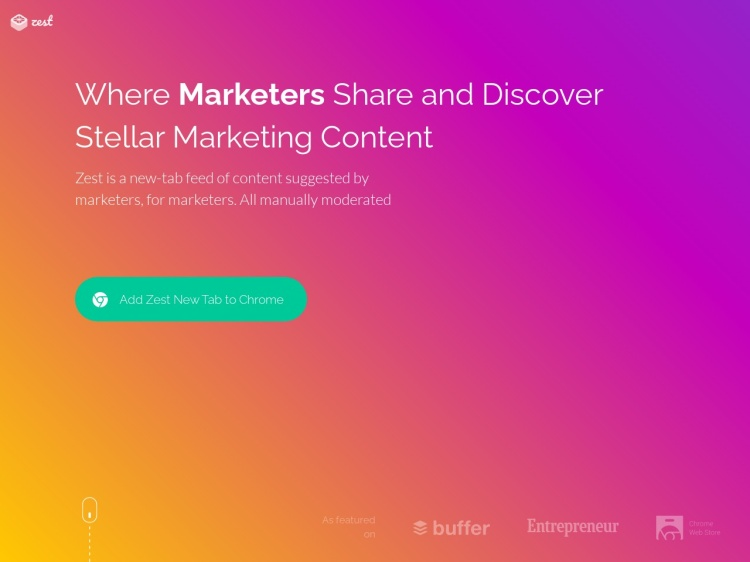 Where Marketers Share and Discover Stellar Marketing Content | Zest