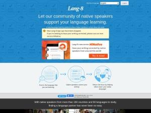 Screenshot of lang-8.com