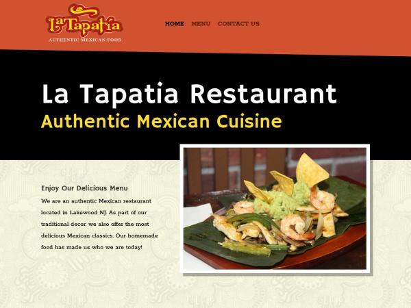 Screenshot of latapatiarestaurantnj.com