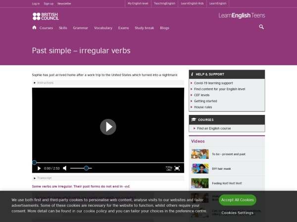 Screenshot of learnenglishteens.britishcouncil.org