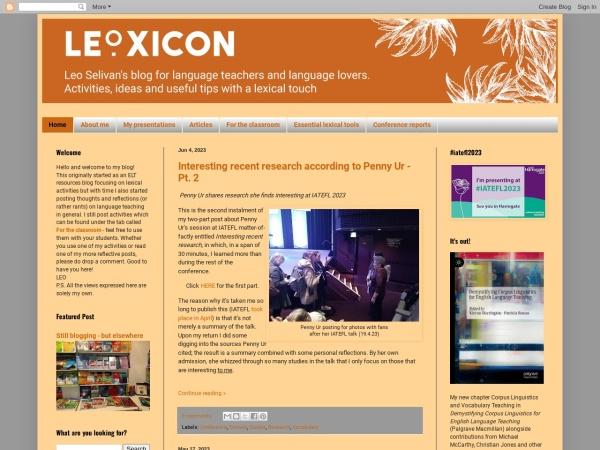 Screenshot of leoxicon.blogspot.de