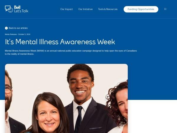 http://letstalk.bell.ca/en/news/144/its-mental-illness-awareness-week