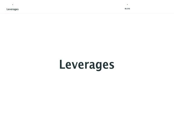 Screenshot of leverages.jp
