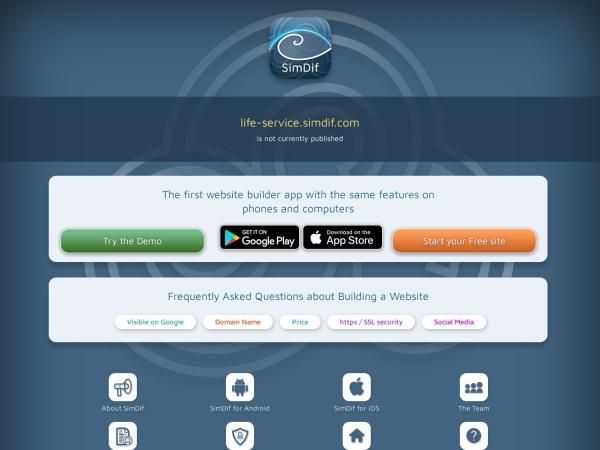 Screenshot of life-service.simdif.com