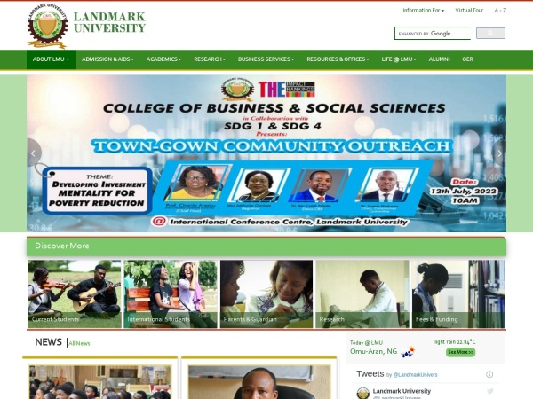 Screenshot of lmu.edu.ng