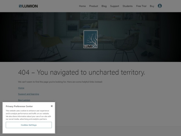 Screenshot of lumion3d.com